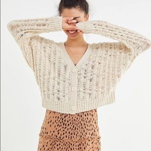 Urban Outfitters Loco Slouchy Sweater Ivory